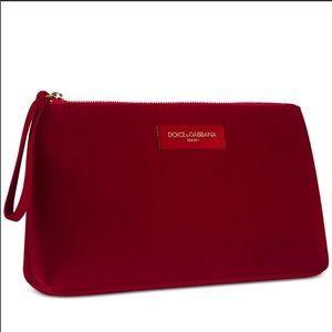 Dolce & Gabbana red velvet wristlet/bag
